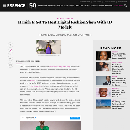 Hanifa Is Set To Host Digital Fashion Show With 3D Models