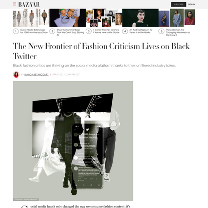 The New Frontier of Fashion Criticism Lives on Black Twitter