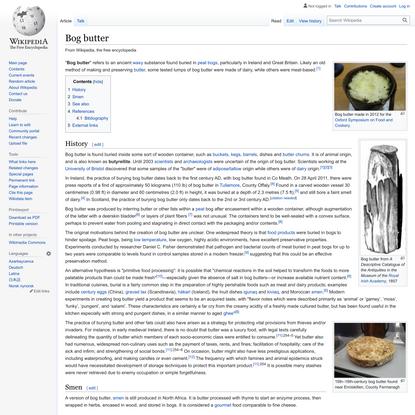 Bog butter - Wikipedia