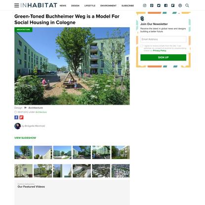 Green-Toned Buchheimer Weg is a Model For Social Housing in Cologne