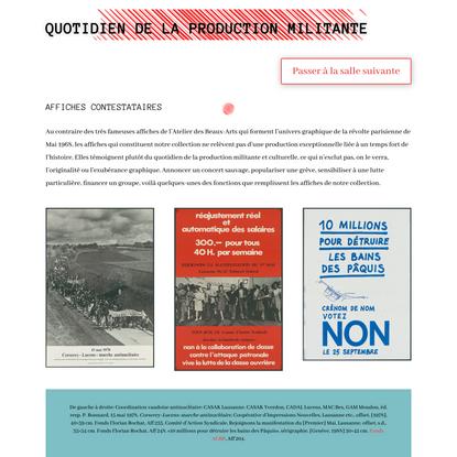 Affiches contestataires et quotidien militant – Expositions virtuelles