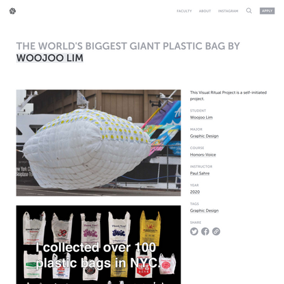 The World's Biggest Giant Plastic Bag by Woojoo Lim