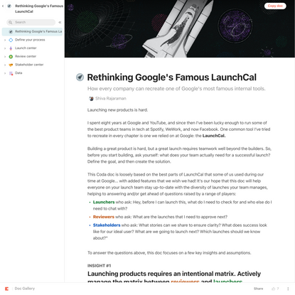 Rethinking Google's Famous LaunchCal