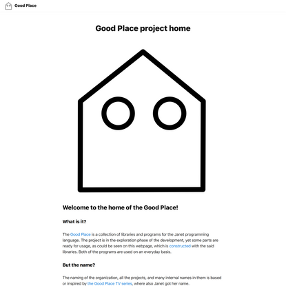 Good Place project home