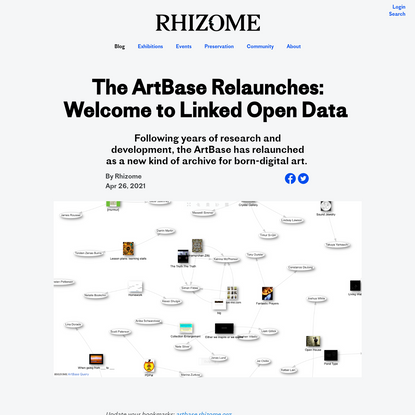 The ArtBase Relaunches: Welcome to Linked Open Data