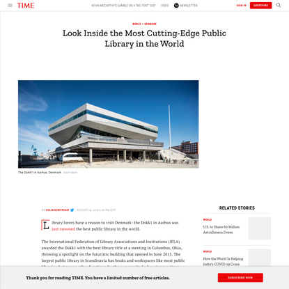 Denmark's Dokk1 Is Best Public Library in the World: Photos   Time