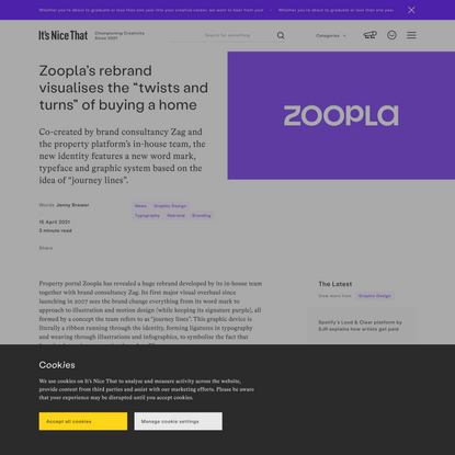 """Zoopla's rebrand visualises the """"twists and turns"""" of buying a home"""