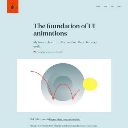 The foundation of UI animations - Trong Nguyen's Desk