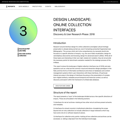 ArtBase Redesign Documentation–Report 3
