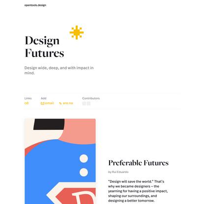 Open Tools - Design Futures