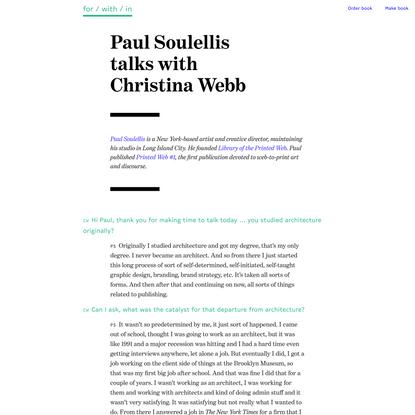 Paul Soulellis with Christina Webb