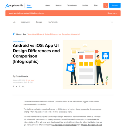 Android vs iOS: 14 Must-Know App Design Differences {Infographic}