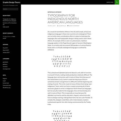 Typography for Indigenous North American Languages | Graphic Design Theory