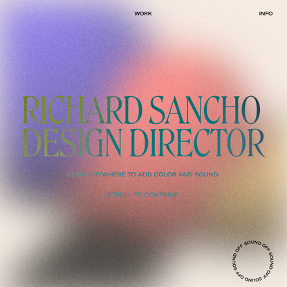 Richard Sancho Design Director