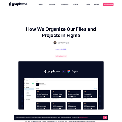 How We Organize our Files and Projects in Figma