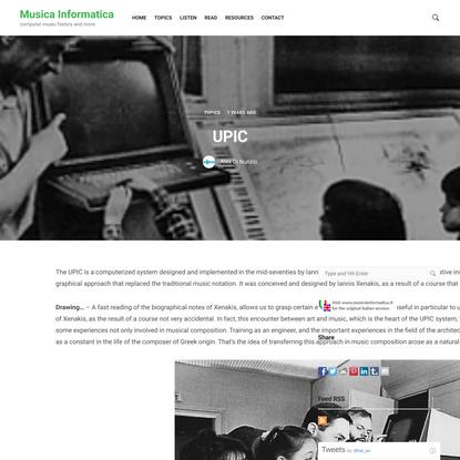 UPIC – Musica Informatica