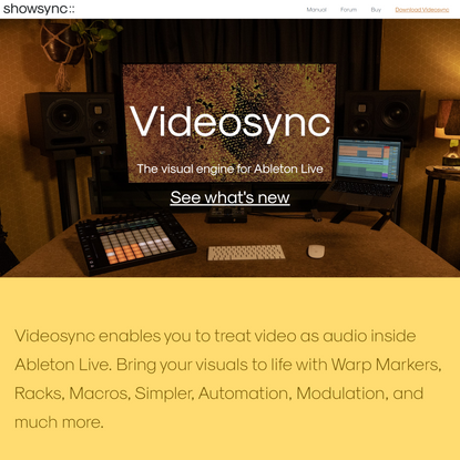 Videosync | Thevisual engine for Ableton Live