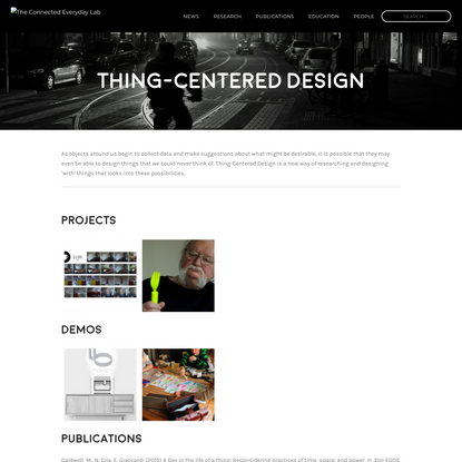 Thing-Centered Design – The Connected Everyday Lab