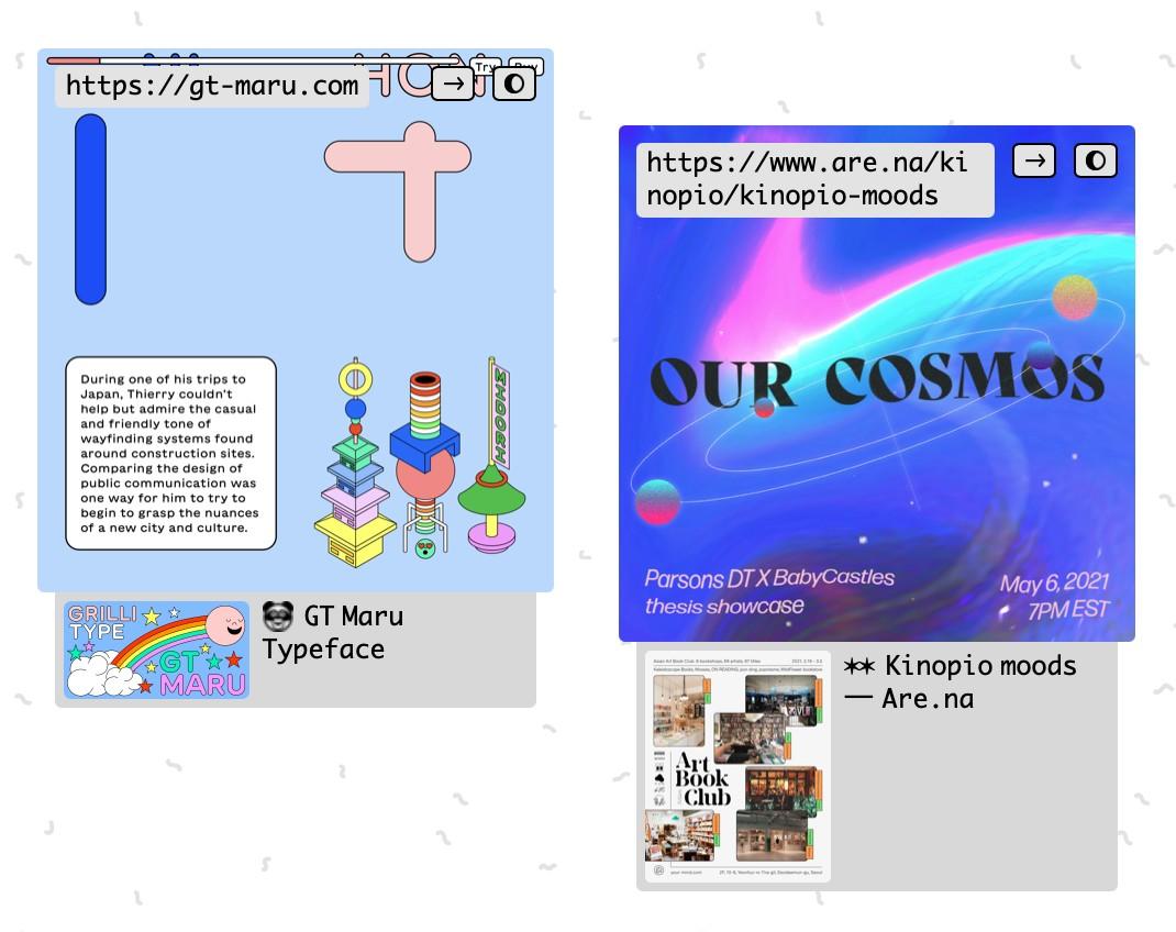 url + image cards