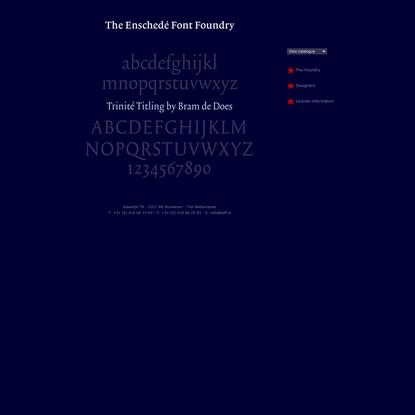 The Enschedé Font Foundry