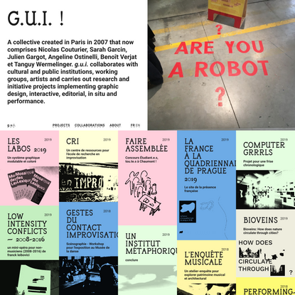 Graphic design, interactive, editorial, in situ and performance