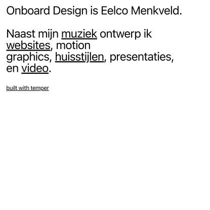 Onboard Design