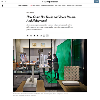 Here Come Hot Desks and Zoom Rooms. And Holograms?