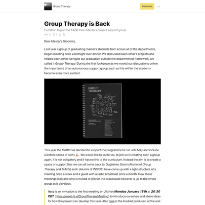 Group Therapy is Back