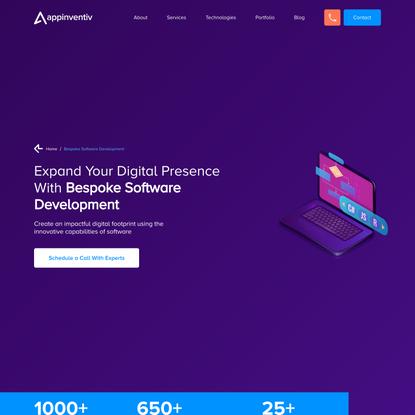 Bespoke software development company | Bespoke app development company in USA