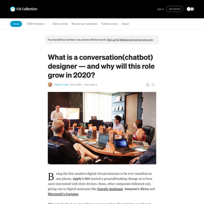 What is a conversation designer — and why will the role grow in 2020?