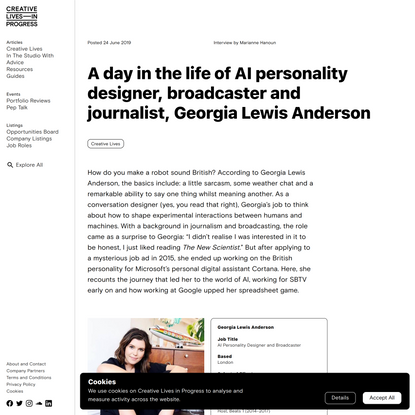 A day in the life of AI personality designer, broadcaster and…