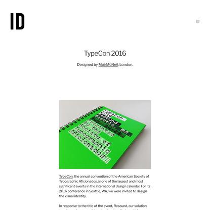 TypeCon 2016 | Identity Designed