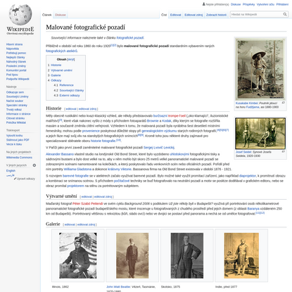 Malované fotografické pozadí - Wikipedie