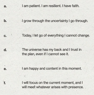 Mantras for dealing with uncertainty