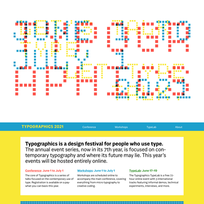 Typographics –A design festival for people who use type