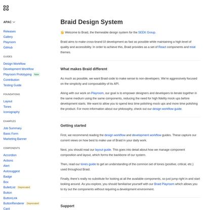 Braid Design System