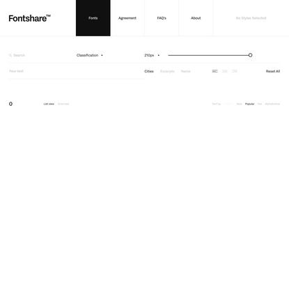 Fontshare: Quality fonts. Free.
