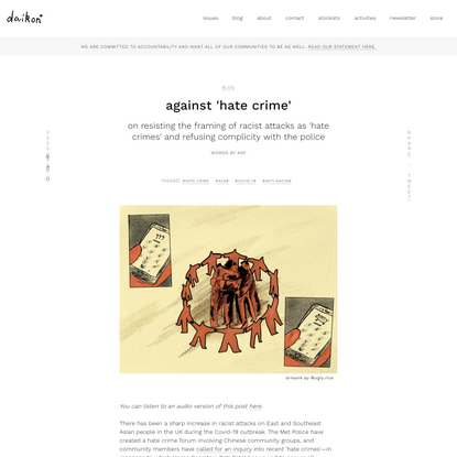 Against 'Hate Crime'