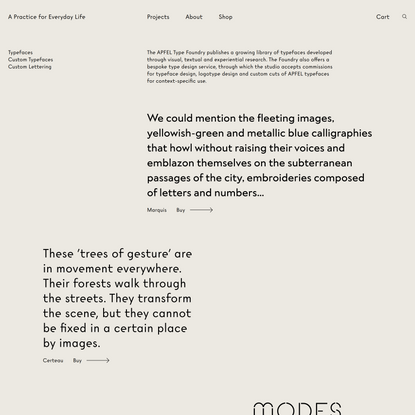 Type Foundry → A Practice for Everyday Life