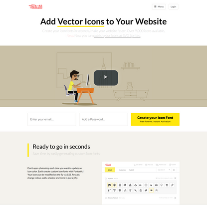 Create your Icon Font in seconds - 9000 Vector Icons Available - Free Icon Font Generator