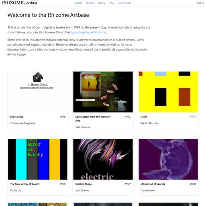 Rhizome Artbase