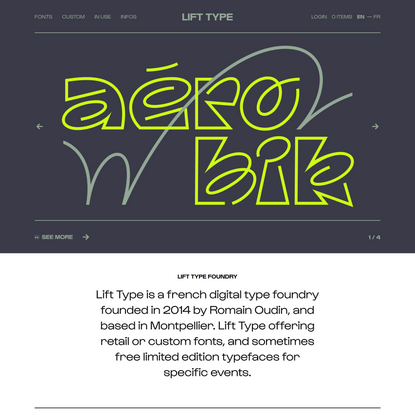 Lift Type — A french digital type foundry