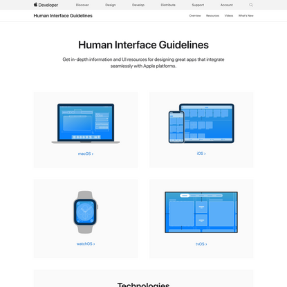 Human Interface Guidelines - Design - Apple Developer