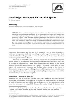 Mushrooms as Companion Species