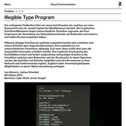Illegible Type Program
