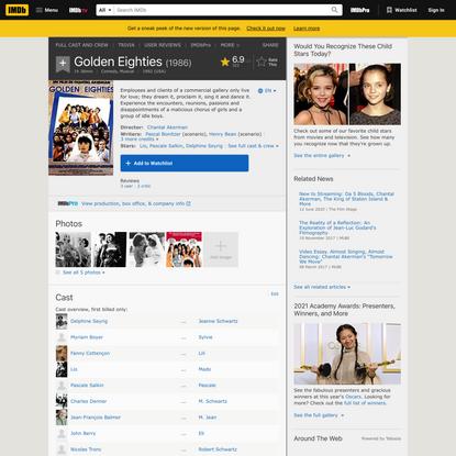 Golden Eighties (1986) - IMDb