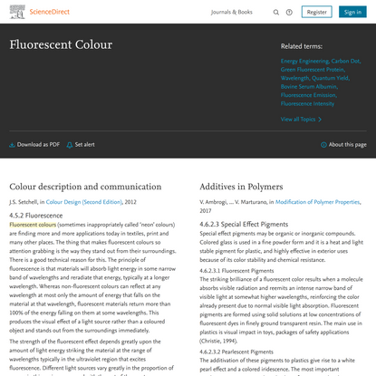 Fluorescent Colour - an overview | ScienceDirect Topics