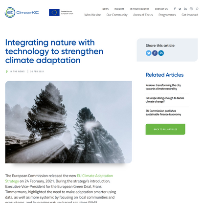 Integrating nature with technology to strengthen climate adaptation