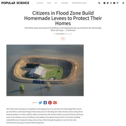 Citizens in Flood Zone Build Homemade Levees to Protect Their Homes