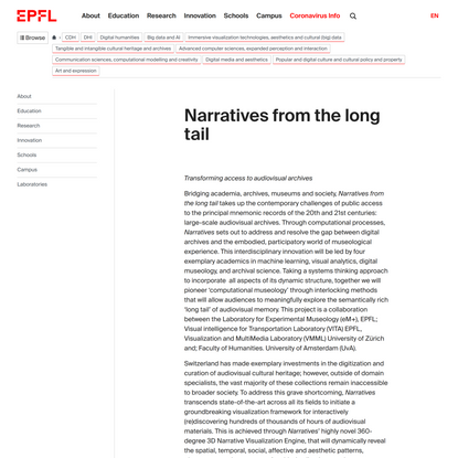 Narratives from the long tail